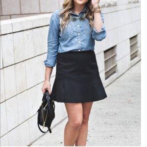 J. Crew size 10 black label fluted mini skirt